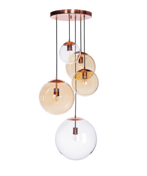 cluster pendant ceiling light MUNA copper dining room 5 lights