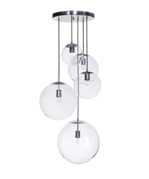 hand blown glass pendant 5 lights MUNA cluster lighting uk