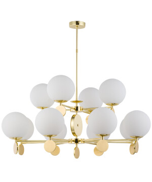 Bespoke Lighting DIMARO 12 light globe chandelier in gold 2 tier