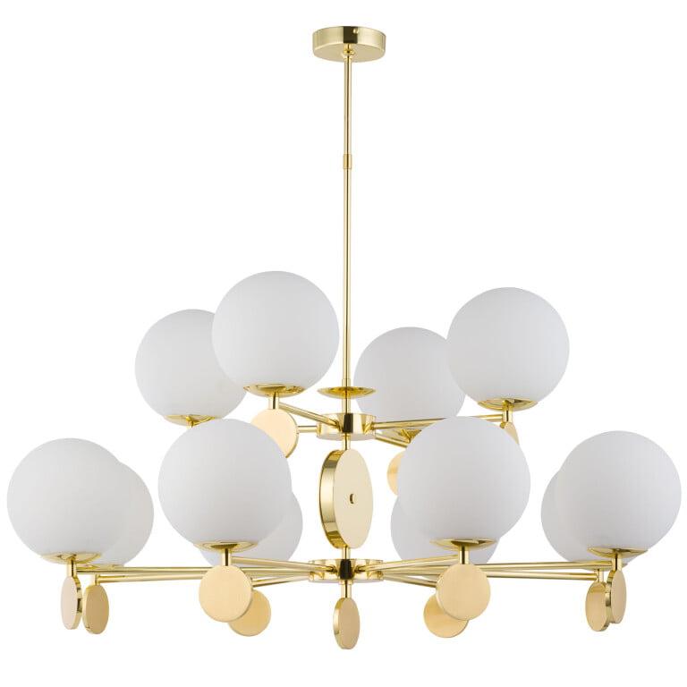 Bespoke Lighting DIMARO 12 light globe chandelier in gold 2 tier