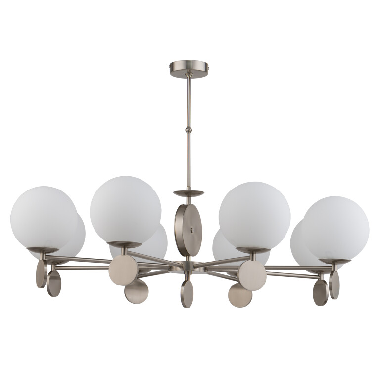 Bespoke Lighting DIMARO 8 light globe nickel chandelier lighting