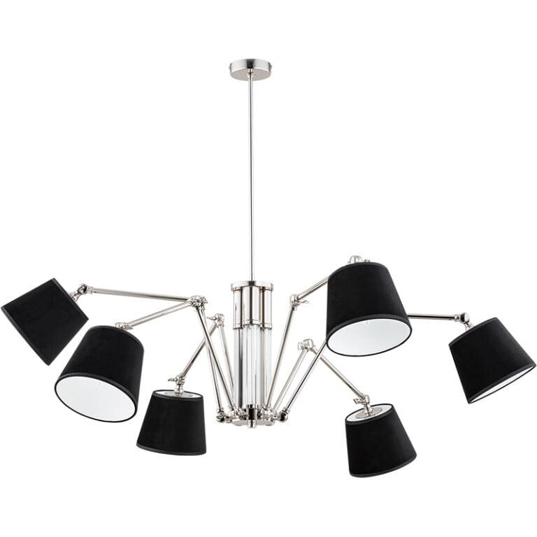 Brass lighting TADEA 6 light chandelier adjustable jointed arm ceiling lights