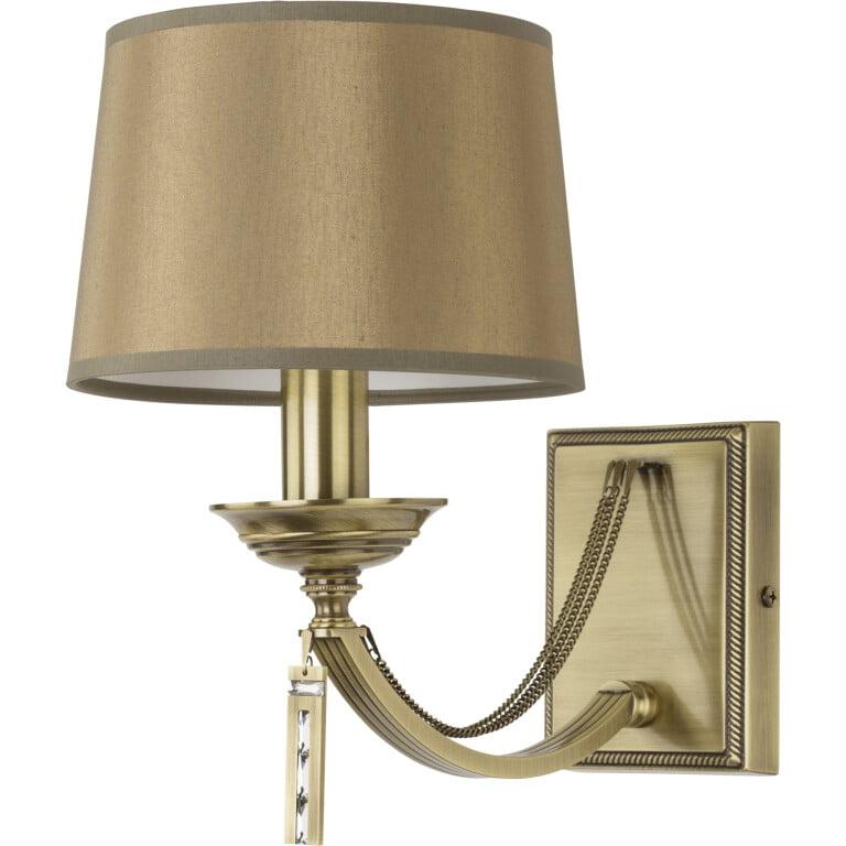 Bespoke lighting ZAFFIRO brushed brass wall light with Swarovski crystals