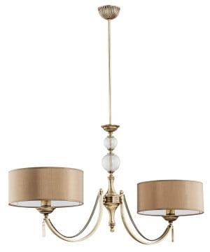 Bespoke lighting ZAFFIRO antique brass 2 light chandelier