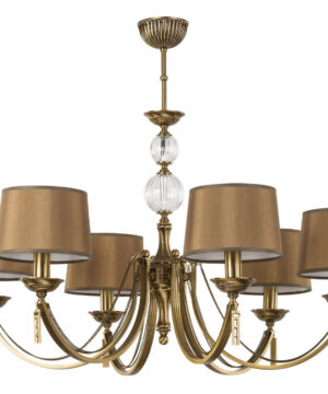 bespoke lighting ZAFFIRO 6 light brass chandelier