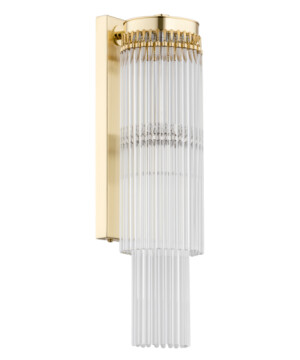 Bespoke lighting FILAGO 1 light glass wall light in gold