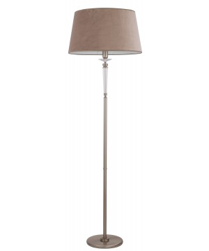 bespoke lighting DALILA floor lamp with glass and brown lamp shade
