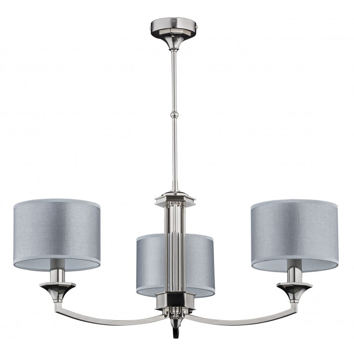 Bespoke lighting DECOR 3 light chandeliers in satin nickel