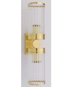 Bespoke lighting LAURIA modern brass gold 2 light wall sconces