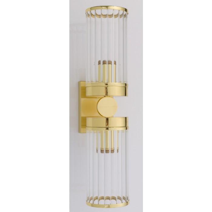 Bespoke lighting LAURIA modern brass gold 2 light wall sconces