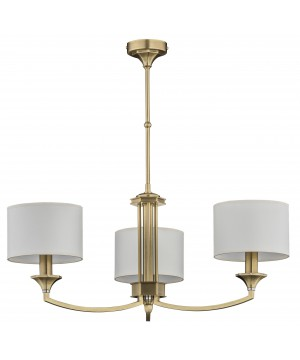 Bespoke lighting DECOR 3 light chandeliers in brushed brass