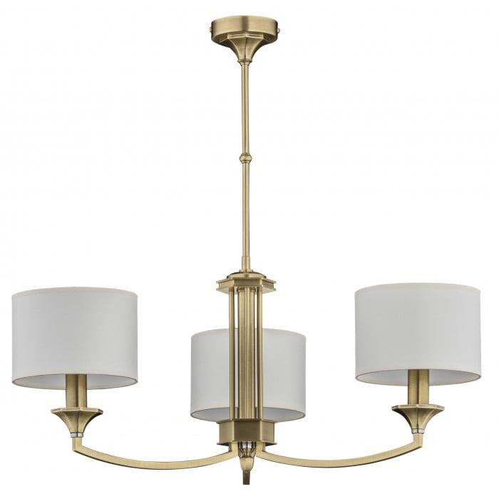 Bespoke lighting DECOR 3 light chandeliers in brushed brass