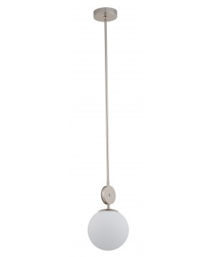 Bespoke lighting DIMARO globe glass pendant light in satin nickel