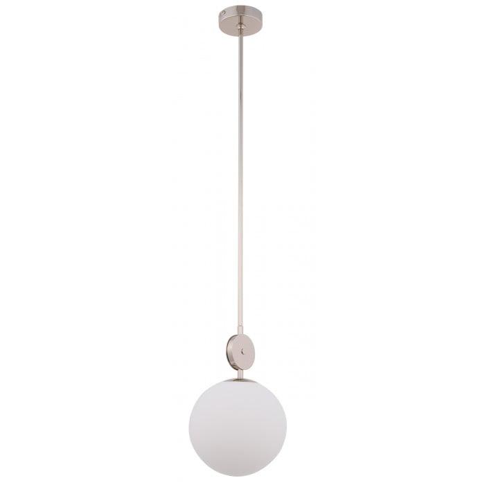 Bespoke lighting DIMARO pendant lighting with glass globe in nickel