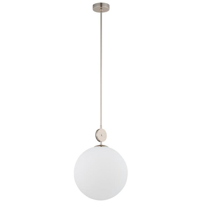 Bespoke lighting DIMARO pendant light glass globe in satin nickel
