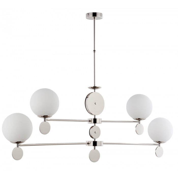 Bespoke lighting DIMARO pendant light with globe shades in satin nickel