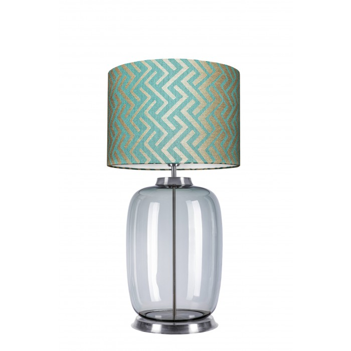 glass house LAUT table lamp glass base in ash colour