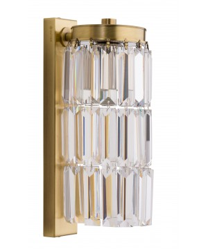 Bespoke lighting ELLINI crystal wall lights in brushed brass