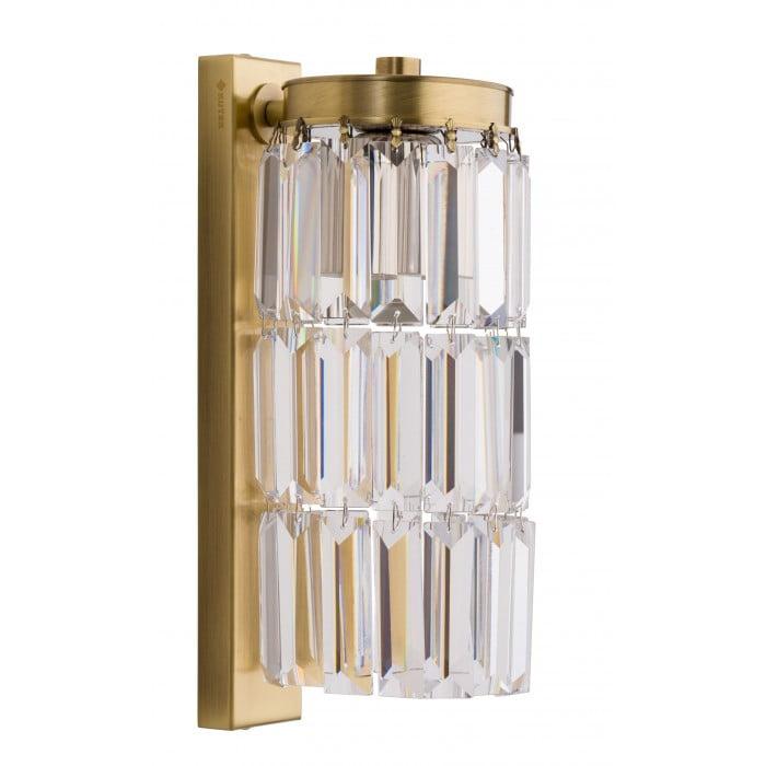 Bespoke lighting ELLINI crystal wall lights in brushed brass