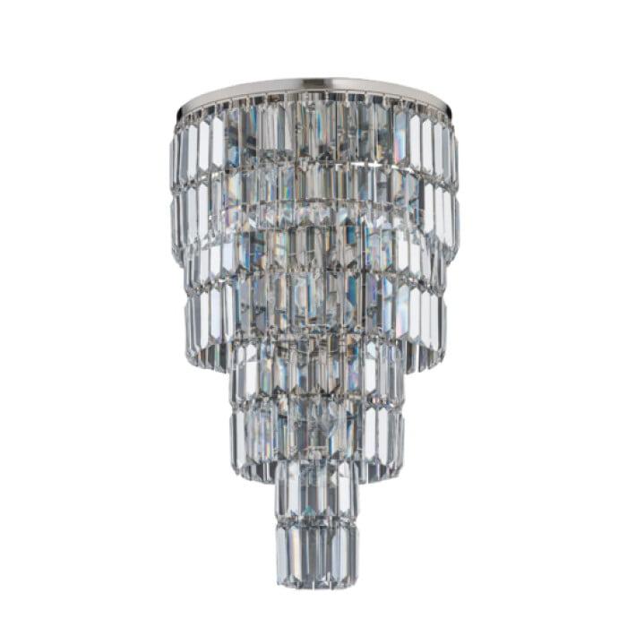 Bespoke lighting ELLINI crystal light in polished nickel