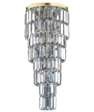 Bespoke lighting ELLINI crystal pendant 7 light in gold