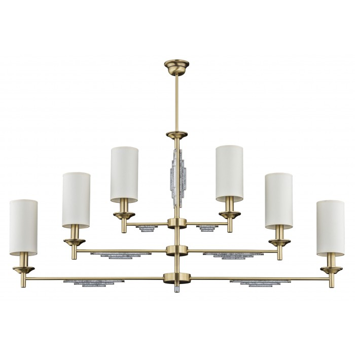 Bespoke lighting FELLINO pendant 6 light in brushed brass