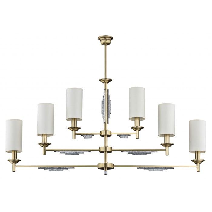 Bespoke lighting FELLINO pendant 6 light in brushed brass