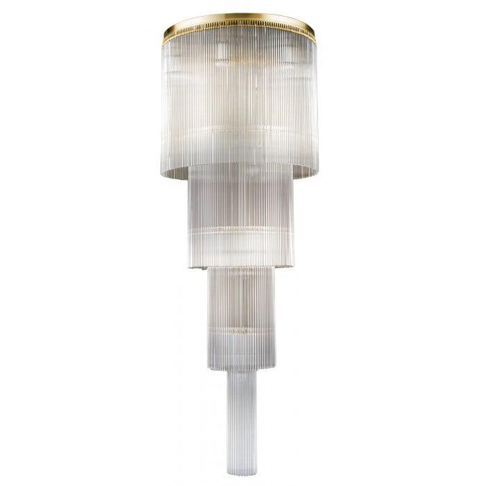 Bespoke lighting FILAGO long chandeliers 10 lights in brushed brass