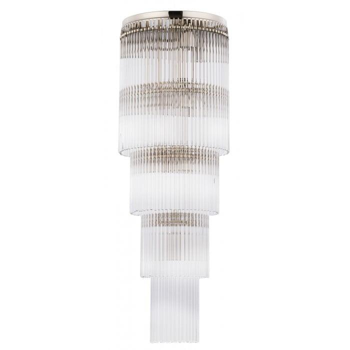 Bespoke lighting FILAGO glass flush ceiling lights in polished nickel