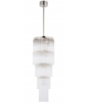 Bespoke lighting FILAGO glass pendant 10 lights in polished nickel