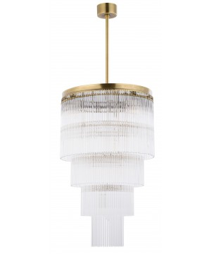 Bespoke lighting FILAGO stairway pendant light in brushed brass