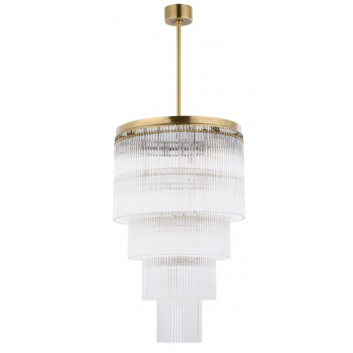 Bespoke lighting FILAGO stairway pendant light in brushed brass