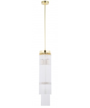Bespoke lighting FILAGO glass pendant light in gold