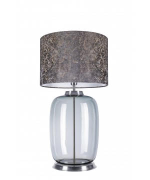 glass house LAUT table lamp glass in ash colour with pattern shade