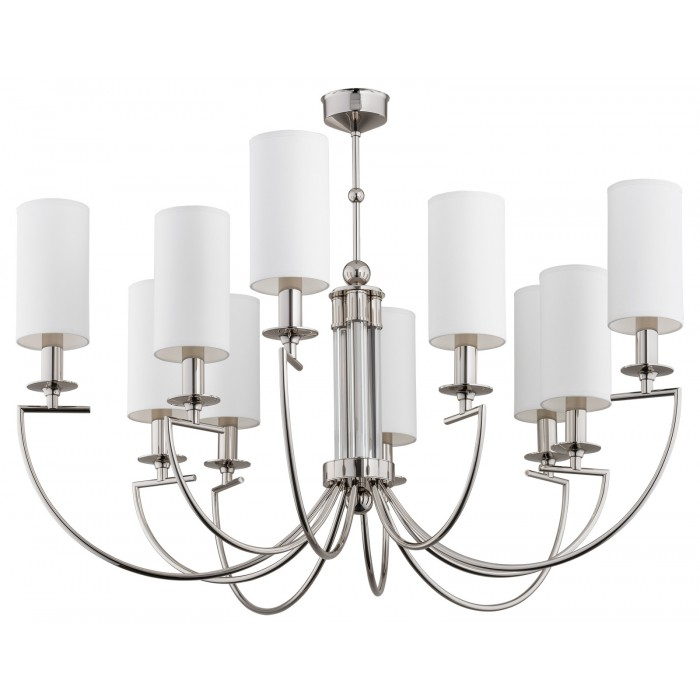 bespoke lighting LEA 10 lights chandeliers with white lampshades
