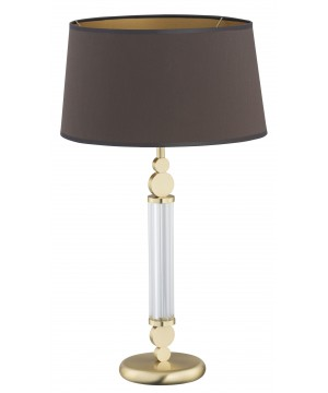 bespoke lighting TAMARA table lamp in gold with brown shade