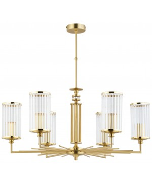 bespoke lighting USINI 6 lights gold chandelier with glass shades