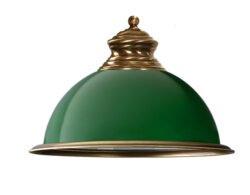 green glass lamp shade