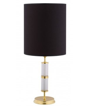 Lighting room BELEZA gold bedside lamp with black shade