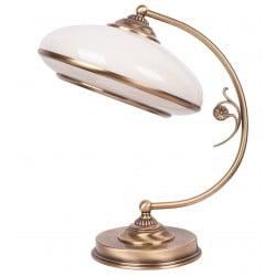 bespoke lighting CASAMIA brass desk lamp with glass shade