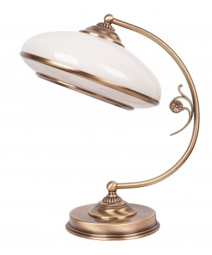 bespoke lighting CASAMIA brass desk lamp with glass shade