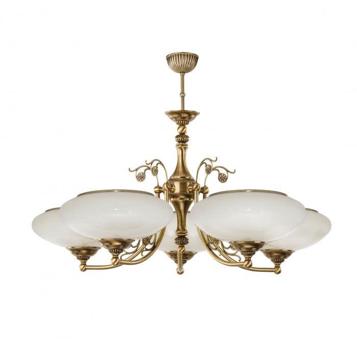 bespoke lighting CASAMIA GLASS 5 light chandelier in brushed brass
