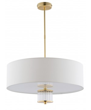 Lighting room EMPOLI modern pendant 4 lights in gold