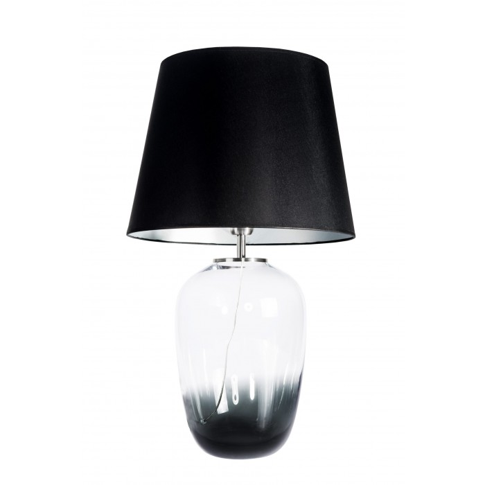 glass house MAUI glass bedside table lamp with black shade