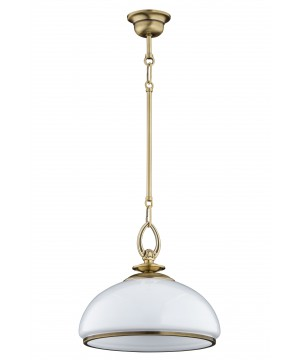 bespoke lighting OBD brass ceiling light with glass shade