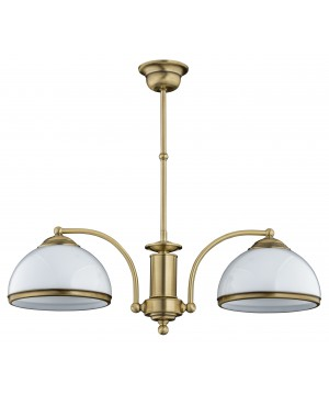 bespoke lighting OBD pendant light glass shades in brushed brass