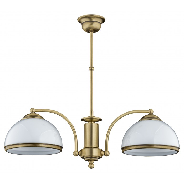 bespoke lighting OBD pendant light glass shades in brushed brass