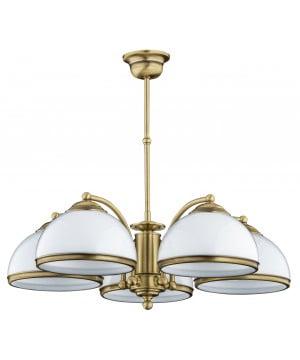 bespoke lighting OBD 5 lights chandelier in brushed brass