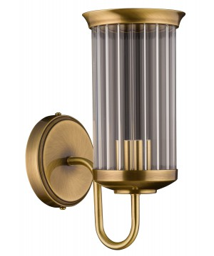 bespoke lighting OLZANO glass wall light in brushed brass