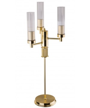 lighting room SETI gold beside lamp with glass shades